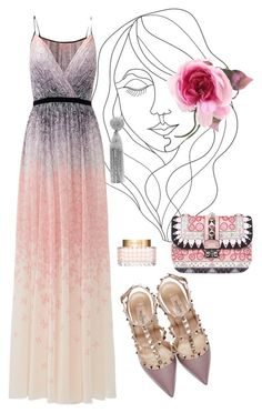 """""""Soft Night to Remember"""" by danielxs on Polyvore featuring PBteen, Badgley Mischka, Valentino, Gucci and Oscar de la Renta"""