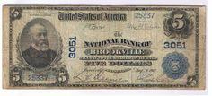 THE NATIONAL BANK OF BROOKVILLE PA 02PB $5 VERY GOOD + | eBay