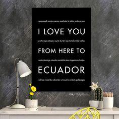 ECUADOR Travel Art Print | Gift Idea | HopSkipJumpPaper