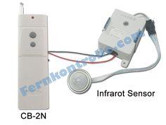 Perfect Ausl sende Fernbedienung CB N verbindet mit einem Infrarot Bewegungsmelder damit ein anderes Elektroger t durch