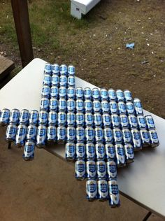 i should make this with natty cans for the social tent in honor of my dad!! @Marilyn Jordan