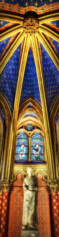 As if the Sun shines it's RAYS down - St. Chapelle in Paris. This's stunning!