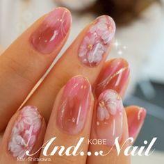 Summer Nail Designs - My Cool Nail Designs Beautiful Nail Designs, Cute Nail Designs, Beautiful Nail Art, Bridal Nails, Wedding Nails, Flower Nail Designs, Japanese Nail Art, Round Nails, Pretty Nail Art