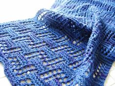Architectural Allure Scarf | AllFreeKnitting.com - links to the actual pattern, under the name Imaarat at swatch love.