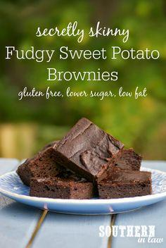 Secretly Skinny Sweet Potato Brownies Recipe - low fat, gluten free, low sugar, healthy