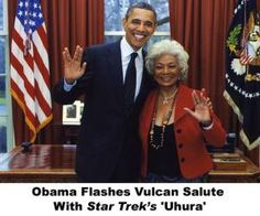 "Photos of Obama Being Awesome: Obama and Star Trek's ""Uhura"""