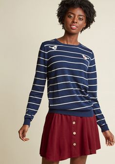 Sugarhill Boutique Word on the Wire Sweater in 6 (UK) - Long Pullover Waist by Sugarhill Boutique from ModCloth