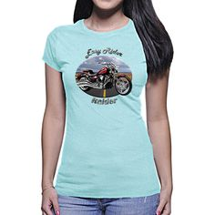 Our Yamaha Raider Easy Rider Women's T-Shirt is the ultimate HOT gift for the  Yamaha Raider fan! A must have for everyone.      Our  Yamaha Raider Women`s T-Shirt is our most popular women`s item. It`s the softest, smoothest, best-looking short sleeve tee shirt available anywhere! It`s form fitting, has fine Jersey (100% Cotton) construction, a durable rib neckband, and features the Easy Rider design.    We have more designs featuring the  Yamaha Raider and a wide selection of t-shirts…