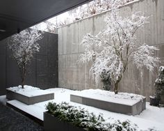 A snowy patio in a private building.  www.frassinago18.com