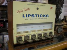 The Allee Willis Museum of Kitsch » Classic Beauty Lipstick Vending Machine