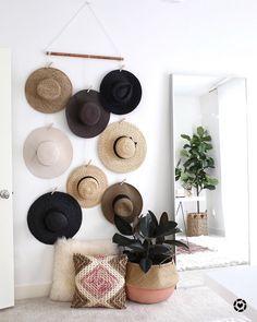 Clothes Hanger Storage, Hat Storage, Wardrobe Storage, Ikea Storage, Storage Ideas, Storage Solutions, Kitchen Storage, Food Storage, Closet Hangers