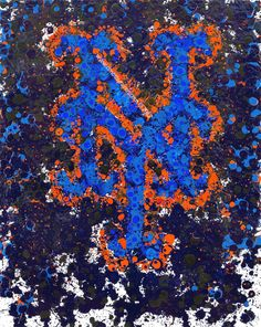 New York Mets Abstract Painting