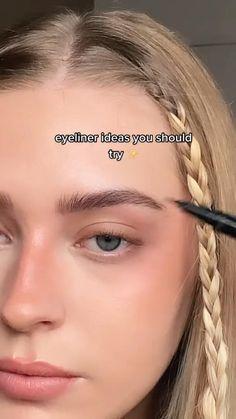 Edgy Makeup, Simple Makeup, Skin Makeup, Natural Makeup, Natural Everyday Makeup, Gold Eyeliner, Eyeliner Looks, Makeup Eye Looks, Eyeliner Ideas