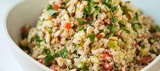 Salada de quinoa com frango e nozes