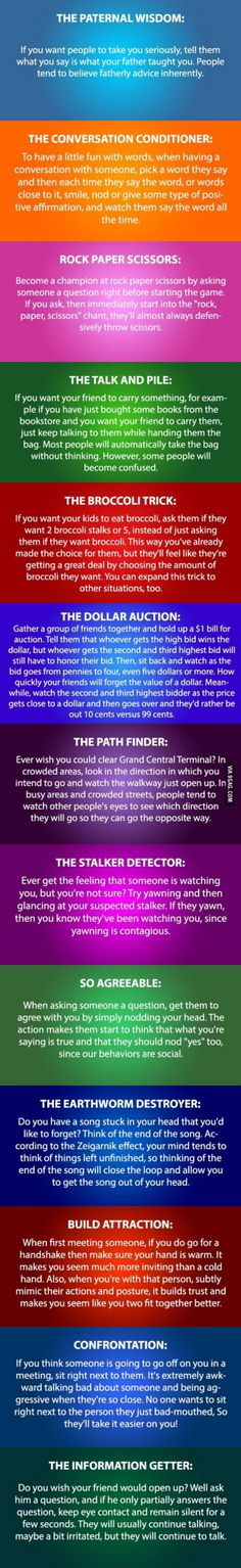 Funny pictures about Some Psychology Tricks You Need To Try. Oh, and cool pics about Some Psychology Tricks You Need To Try. Also, Some Psychology Tricks You Need To Try photos. Info Board, The More You Know, Good To Know, Pseudo Science, Simple Life Hacks, Psychology Facts, Psychology Experiments, Color Psychology, Good Advice