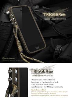 Trigger Aluminum Case Tactical edition for Apple iPhone 5 & 5S [TC29910] : 4thDesign, - Premium Mobile Accessories -