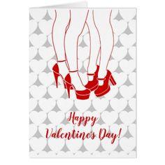 Lesbian couple kissing Valentine's Day Card - Saint Valentine's Day gift idea couple love girlfriend boyfriend design