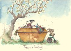 IF111 Treasure Hunting - A Two Bad Mice Card by Fran Evans