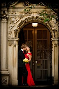 love a red wedding dress- maybe for you and Kevins vow renewal someday, Kat Ellis Maurice? Red Wedding Dresses, Designer Wedding Dresses, Wedding Colors, Wedding Trends, Wedding Designs, Wedding Ideas, Perfect Wedding, Dream Wedding, Wedding Story