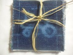Recycled Blue Jean Coaster Set by jeanoligy on Etsy, $7.95