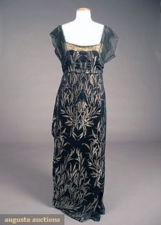 WORTH EVENING GOWN, PARIS, c. 1908
