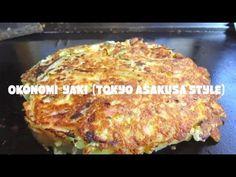 How to make OKONOMIYAKI(Tokyo Asakusa Style) Japanese Food cooking 浅草流お好み焼きの作り方