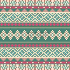 Geometrical seamless ornamental pattern ethnic style