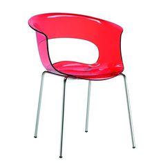 Chaise design avec pieds blanc - A l\'unité - ZEBRA BICOLORE - deco ...