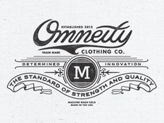 Dribbble - Omneity Clothing Tag by Steve Wolf