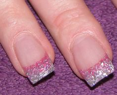 Cool pink glitter nail designs. Click to see more details.