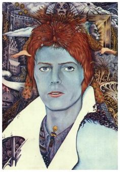 'David Bowie - Stardust Memories' mixed media by George Underwood
