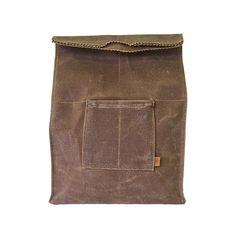 Waxed Canvas Lunch Bag, Spice // whitesmercantille.com