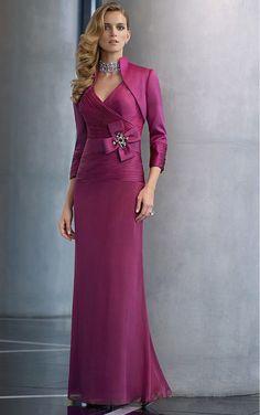 Burgundy Sheath Floor-length V-neck Dress [Dresses 9306] - $191.00 : - KissPromGirl.com