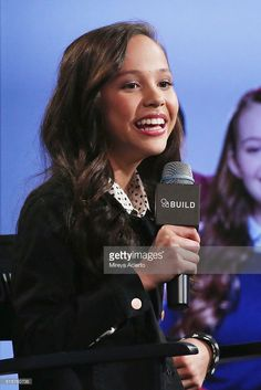 Actress Breanna Yde discusses the television show 'School Of Rock' at AOL Studios in New York on March 15, 2016 in New York City.