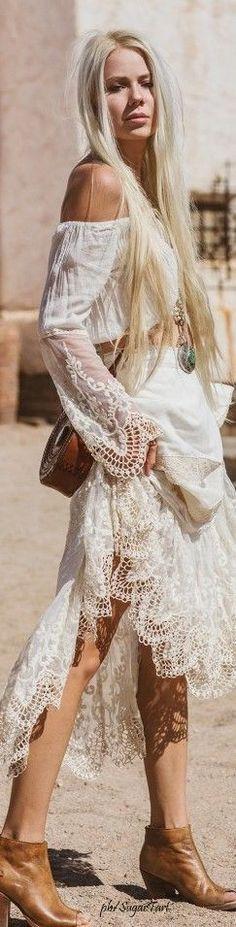 Boho chic bohemian boho style hippy hippie chic bohme vibe gypsy fashion indie folk the 70s . || Desert Lily Vintage ||