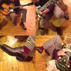 John Lobb Chambord shoes, Mabitex trousers and 1967 Epiphone Howard Roberts guitar