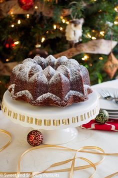 This Espresso Gingerbread Bundt Cake smells just like Christmas. Made with spices such as cinnamon, ginger, cloves and nutmeg, it's the perfect holiday cake.