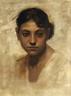 Head of Capri Girl - John Singer Sargent, circa 1878.