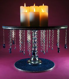Mignight Blue 18 Round Wedding Cake Stand with by NobleNest, $325.00