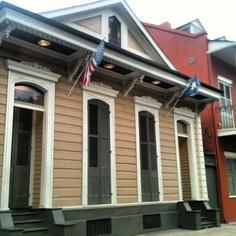 Shotgun House . French Quarter . New Orleans . Louisiana