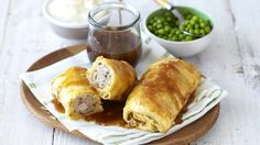 Easy Sausage Rolls with Mash and Gravy