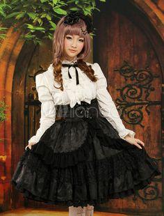 ロリータ衣装 上下セット ブラウス&スカート 2点セット セットアップ - Milanoo.jp