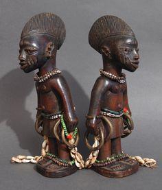 Yoruba Ere Ibeji (Twin Figure), Egba - Abeokuta, Nigeria http://www.imodara.com/item/nigeria-yoruba-ere-ibeji-twin-figure-egba-abeokuta/