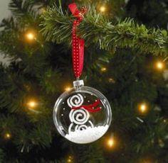 Flat Snowman Ornament Project