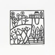'Sunflowers' lino print £15.00