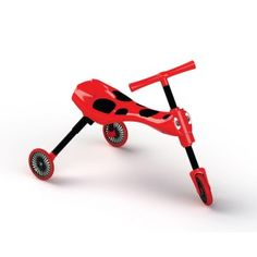 Scuttlebug Ladybird in Red/Black - Toddler Folding Trike | Scuttlebug Toddler Trike. Only £24.99