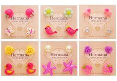 12 Pairs Lot of Cute Girls Kids Plastic Soft Post Stud Earrings Fashion Children #Stud