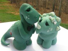 Dinosaur wedding cake topper!