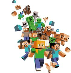 57Digital's Minecon Booth Background Illustration | Petshopbox Studio