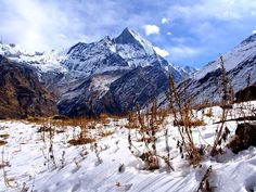 Beautiful view   #Mount #Fishtail on the way to #Annapurna #Base #Camp
